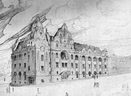 Competition plans for the Postal Administration Building, 1902|Pozsony (today Bratislava)|(together with the architect Ödön Lechner)