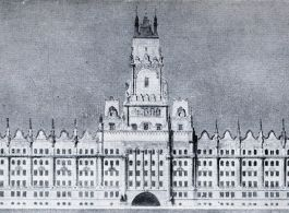 Competition plans for the building of the Ministry for Religious Affairs and Public Education, 1905 (3rd prize)|Budapest, V. Balassi Bálint utca|